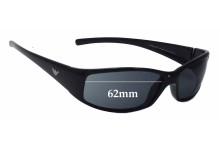 Sunglass Fix Sunglass Replacement Lenses for Emporio Armani 9031/S - 62mm Wide
