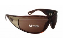 Sunglass Fix Sunglass Replacement Lenses for Emporio Armani EA 9419/S - 81mm Wide x 48mm Tall