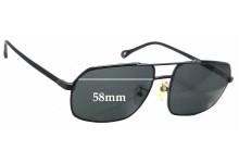 Sunglass Fix Sunglass Replacement Lenses for Ermenegildo Zegna SZ 3248 - 58mm Wide