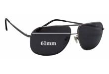 Sunglass Fix Sunglass Replacement Lenses for Ermenegildo Zegna SZ 3241 - 61mm Wide