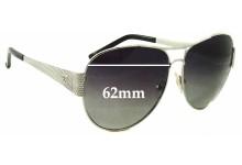 Sunglass Fix Sunglass Replacement Lenses for Escada SES 748 - 62mm Wide