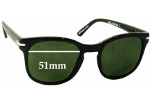 Sunglass Fix Sunglass Replacement Lenses for Electric Rip Rock - 51mm Wide