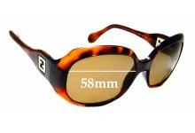 Sunglass Fix Sunglass Replacement Lenses for Fendi FS 409 - 58mm Wide