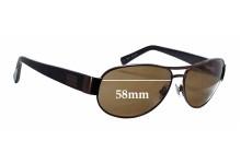 Sunglass Fix Sunglass Replacement Lenses for Fossil Berkley MS 4065 - 58mm Wide