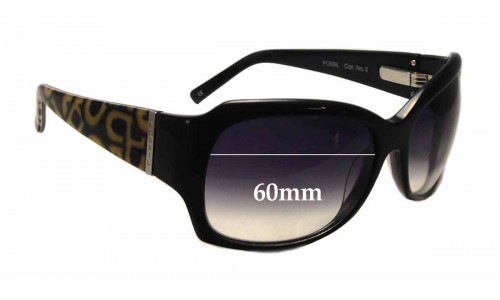 Sunglass Fix Sunglass Replacement Lenses for Fossil Glamour - 60mm wide