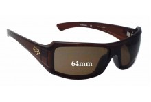 Sunglass Fix Sunglass Replacement Lenses for Fox The Median - 64mm Wide