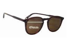 Sunglass Fix Sunglass Replacement Lenses for Garrett Leight Kinney - 49mm Wide