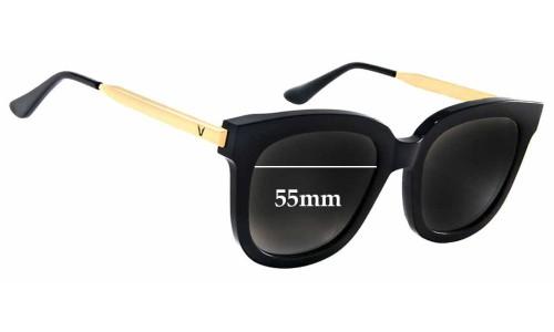 Sunglass Fix Sunglass Replacement Lenses for Gentle Monster Absente - 55mm Wide x 50mm Tall