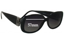Sunglass Fix Sunglass Replacement Lenses for Givenchy SGV690S - 57mm Wide