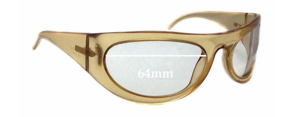 Sunglass Fix Sunglass Replacement Lenses for Gucci GG 1429/S - 64mm Wide