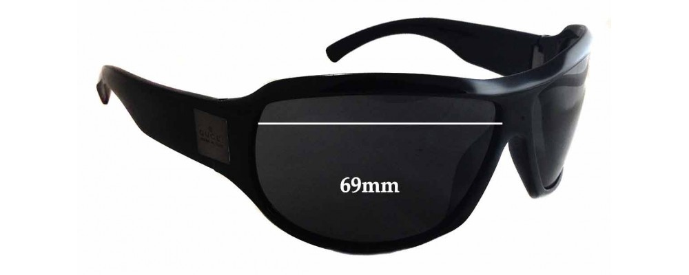 Sunglass Fix Sunglass Replacement Lenses for Gucci GG1562/S - 69mm Wide x 49mm Tall