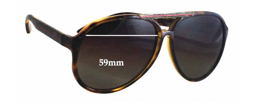 Sunglass Fix Replacement Lenses for Gucci GG1627/S - 59mm Wide