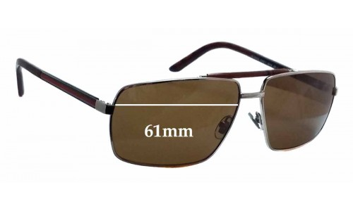 Sunglass Fix Sunglass Replacement Lenses for Gucci GG 2202/S - 61mm wide