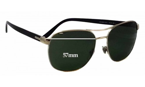 Sunglass Fix Sunglass Replacement Lenses for Gucci GG 2220/S - 57mm wide