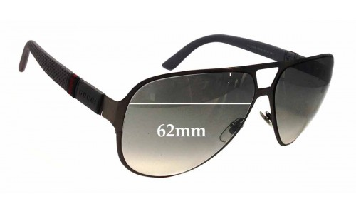Sunglass Fix Sunglass Replacement Lenses for Gucci GG2252/S - 62mm Wide