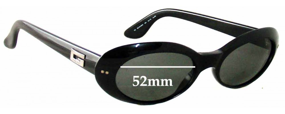 Sunglass Fix Sunglass Replacement Lenses for Gucci GG 2413/N/S - 52mm Wide e