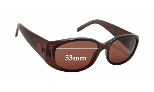 Sunglass Fix Sunglass Replacement Lenses for Gucci GG2451/S - 53mm wide x 31mm tall
