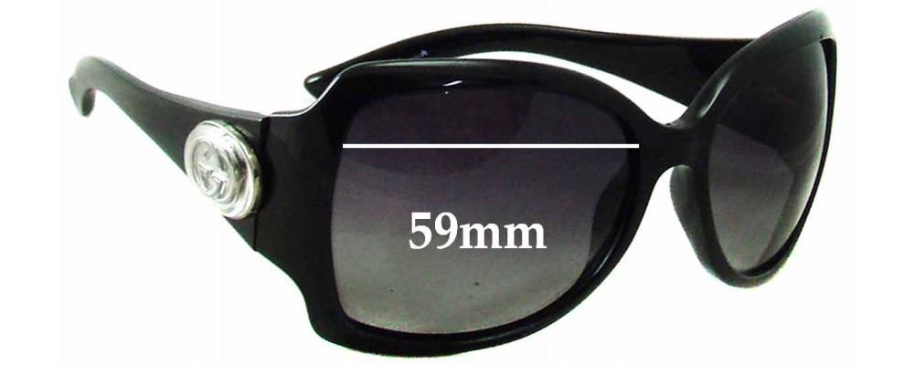 Sunglass Fix Sunglass Replacement Lenses for Gucci GG 2938/N/S - 59mm Wide
