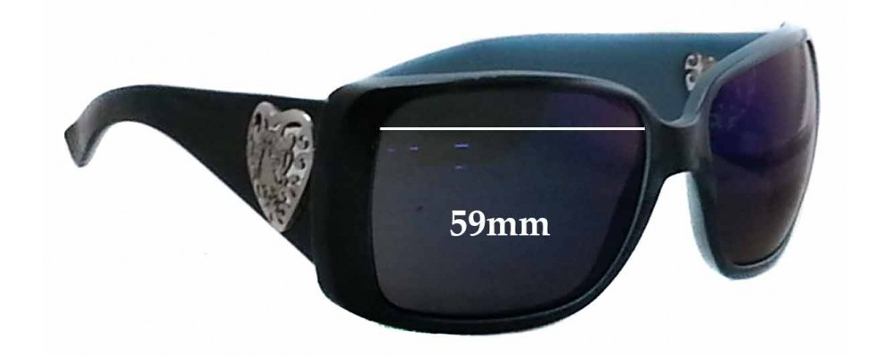 Sunglass Fix Replacement Lenses for Gucci GG3058/S - 59mm Wide