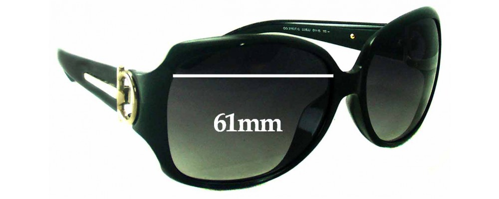 Sunglass Fix Sunglass Replacement Lenses for Gucci GG3115/F/S - 61mm Wide