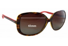 Sunglass Fix Sunglass Replacement Lenses for Gucci GG 3157/S - 61mm Wide