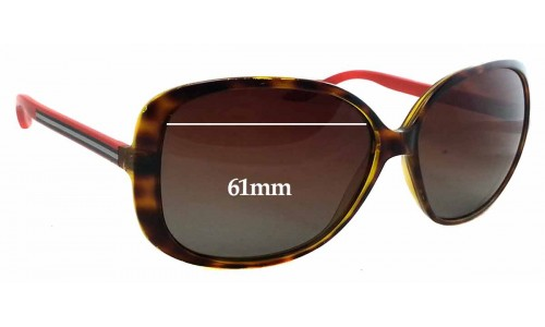 Sunglass Fix Sunglass Replacement Lenses for Gucci GG 3157/S - 61mm