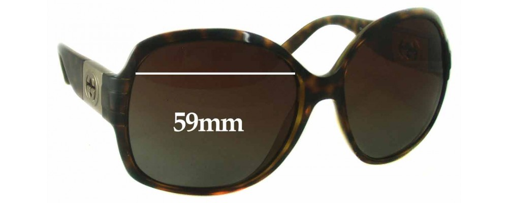 Sunglass Fix Sunglass Replacement Lenses for Gucci GG 3169/S - 59mm Wide