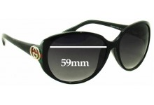 Sunglass Fix Sunglass Replacement Lenses for Gucci GG 3174/F/S - 59mm Wide