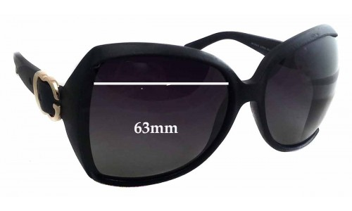 Sunglass Fix Sunglass Replacement Lenses for Gucci GG 3512/S - 63mm wide x 56mm tall