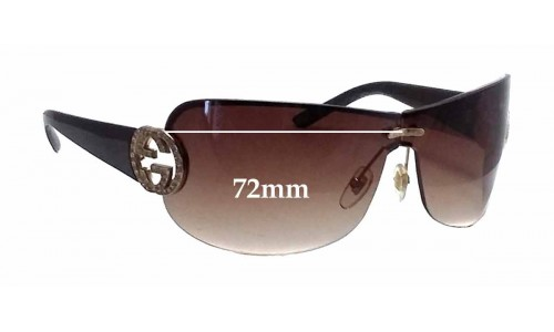 Sunglass Fix Sunglass Replacement Lenses for Gucci GG 4224/S - 72mm Wide