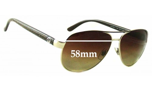 Sunglass Fix Sunglass Replacement Lenses for Gucci GG 4239/S - 58mm wide