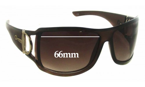 Sunglass Fix Sunglass Replacement Lenses for Gucci GTH5U - 66mm wide