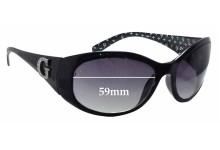 Sunglass Fix Sunglass Replacement Lenses for Guess GU6389 - 59mm Wide
