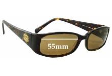 Sunglass Fix Sunglass Replacement Lenses for Guess GU6572 - 55mm Wide