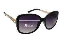 Sunglass Fix Sunglass Replacement Lenses for Guess GU7144 - 58mm Wide