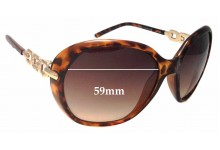Sunglass Fix Sunglass Replacement Lenses for Guess GU7290 - 59mm Wide