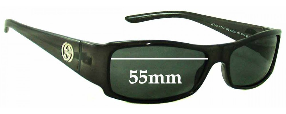 Sunglass Fix Sunglass Replacement Lenses for Gucci GG1482/S - 55mm Wide