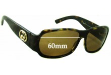 Sunglass Fix Sunglass Replacement Lenses for Gucci GG2935/S - 60mm Wide