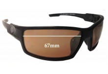 Sunglass Fix Sunglass Replacement Lenses for Harley Davidson Wiley X H-D Wolf - 67mm Wide