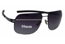 Sunglass Fix Sunglass Replacement Lenses for IC! Berlin Alex - 59mm Wide