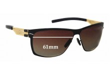 Sunglass Fix Sunglass Replacement Lenses for IC! Berlin Magomed J. - 61mm Wide