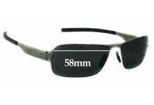 Sunglass Fix Sunglass Replacement Lenses for IC! Berlin Der Wegweiser - 58mm Wide