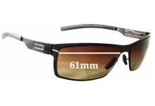 Sunglass Fix Sunglass Replacement Lenses for IC! Berlin Wladimir - 61mm Wide