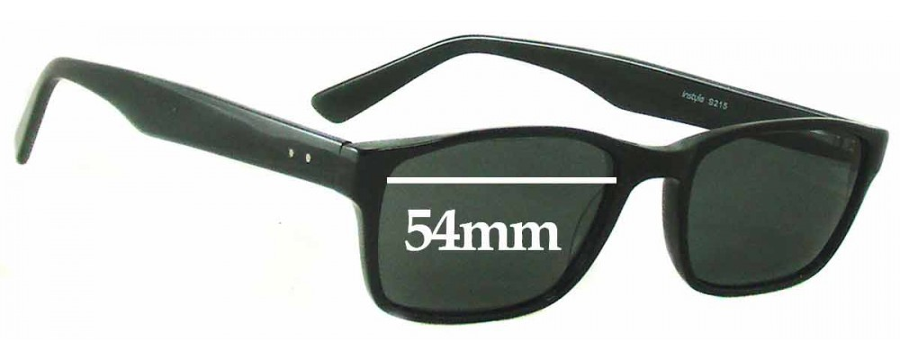 Sunglass Fix Sunglass Replacement Lenses for In Style S215 - 54mm Wide