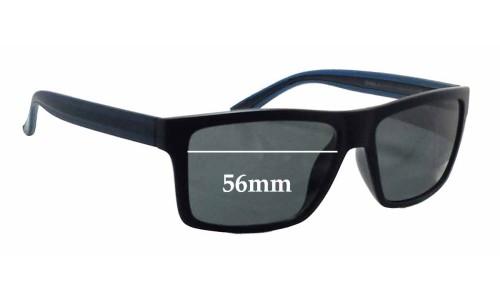 Sunglass Fix Sunglass Replacement Lenses for Invu B2502B - 56mm Wide