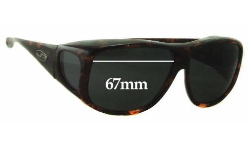 Sunglass Fix Sunglass Replacement Lenses for Jonathan Paul 0914 - 67mm Wide