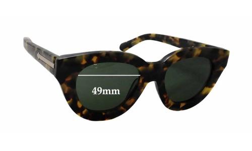 Sunglass Fix Sunglass Replacement Lenses for Karen Walker Anytime - 49mm Wide x 44mm Tall