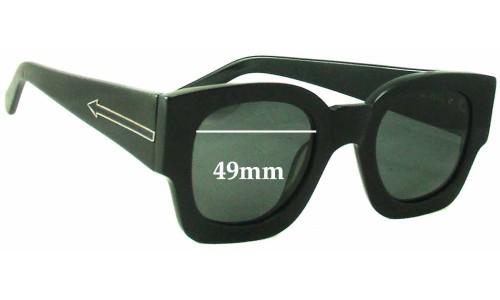 Sunglass Fix Sunglass Replacement Lenses for Karen Walker Number Two - 49mm Wide