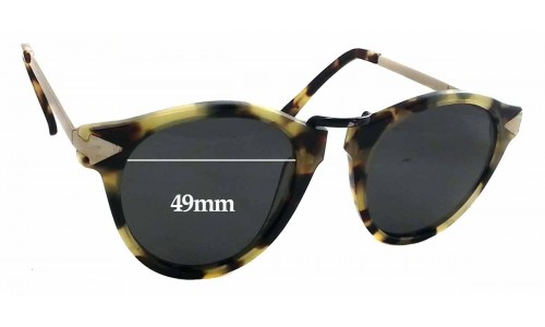 Sunglass Fix Sunglass Replacement Lenses for Karen Walker Helter Skelter - 49mm Wide