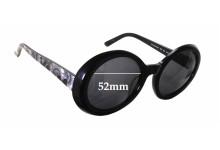 Sunglass Fix Sunglass Replacement Lenses for Kate Spade Graceann/S - 52mm Wide